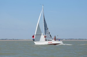 IRC winner and third in NHC, Peter Copsey's 'Triton' - photo by Guy Hawkins